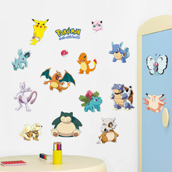 % Pocket Monster Pokemon Wall Sticker Kids Room Home Decoration Pikachu Wall Decal Amination Poster DIY Game Cartoon Wallpaper