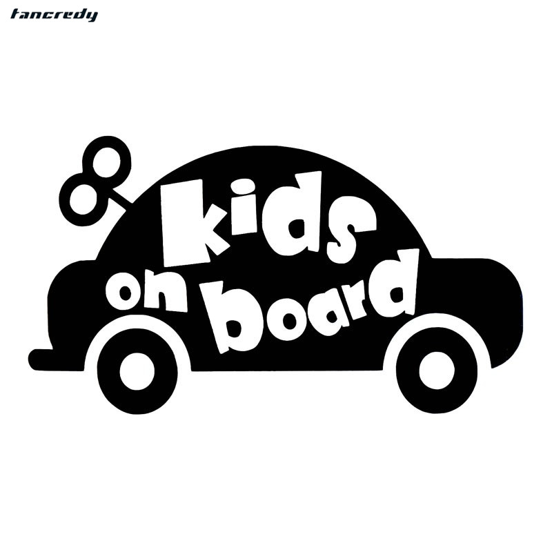 1pcs 15.2*8.5cm 3D funny Car Styling Stickers KIDS ON BOARD Car Stickers and Decals Car Body Window Stickers