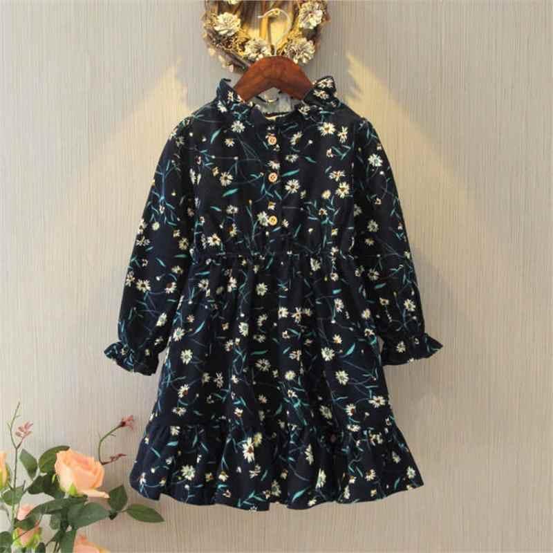2019 แฟชั่นฤดูใบไม้ผลิฤดูใบไม้ร่วงเด็กออกแบบดอกไม้เสื้อผ้าวัยรุ่นผ้าฝ้ายแขนยาวชุดเด็กผู้หญิงชุดลำลอง W57