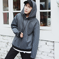 Novo 2016 outono/inverno estilo inglaterra moda xadrez solta hoodies hip hop homens moleton masculino pulôver ocasional da camisola WY5
