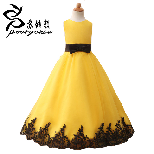 Yellow flower dresses