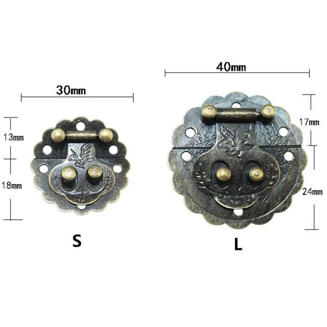 Groß Antike Chinesische Möbel Hardware Eisen Blume Und Vögel Griff