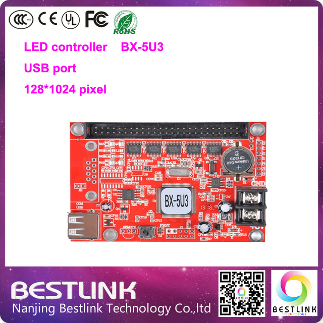 led controller card BX-5U3 Onbon single color led control card 128*1024 pixel p10 led screen programmable sign display board