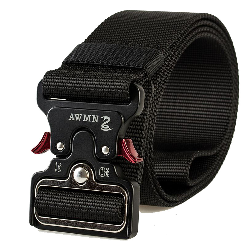 New 5cm Cobra Buckle Tactical   Belt   125cm High Quality Nylon Casual Canvas   Belt   For Men And Women he was Training   Belt   AE26