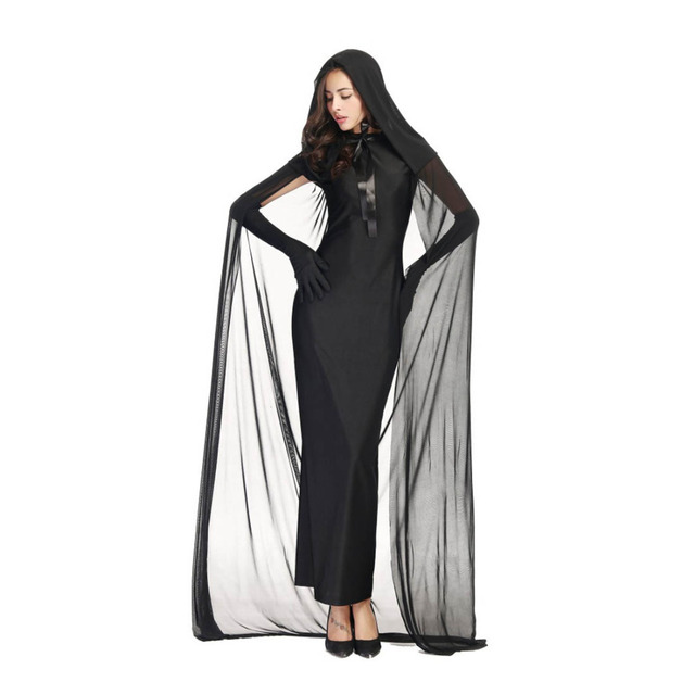 3e744b8f840 Black Ghost Costume Evil Witch Costume Gothic Cosplay Floor length ...