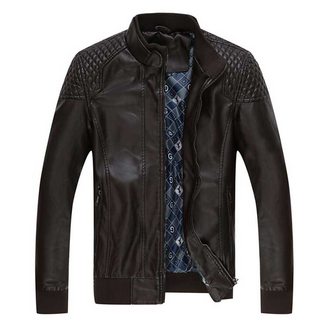 2017 Brand Clothing Winter Leather Jacket Men Fashion Motorcycle Jacket jaqueta motoqueiro casaco masculino bomber jacket