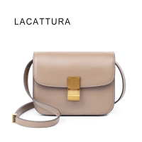 LACATTURA Hot Sale Luxury Brand Design Women Classic Celing Box It Bag Genuine Cowskin Leather Popular