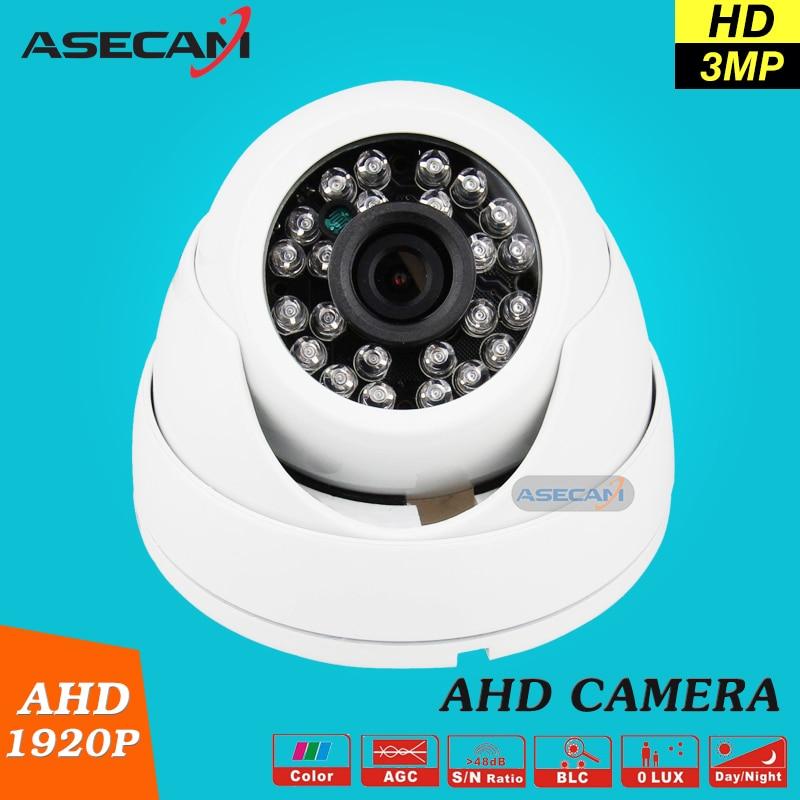 bilder für Asecam Hause Super 3MP HD 1920 P Überwachungskamera CCTV Weiß Mini Dome AHD Überwachung System IR Nachtsicht Freies verschiffen