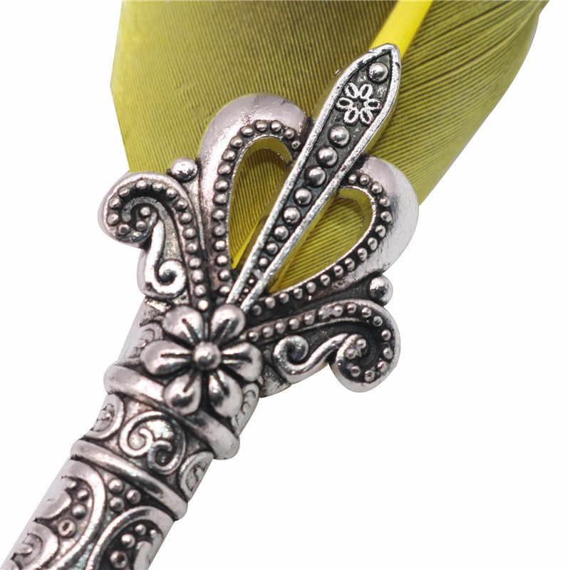 1 Juego de pluma de inmersión de pluma de caligrafía inglesa juego de papelería caja de regalo con 5 plumillos pluma de regalo de boda pluma estilográfica nueva