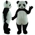 panda with dark circles mascot costume adult panda macot