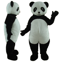 panda with dark circles mascot costume adult panda macot