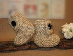 Dziecięce botki z dzianiny wielbłąd dziecięce buty  noworodki  dzianinowe botki
