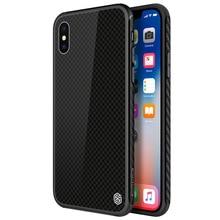 9 H закаленное стекло задняя крышка для iPhone X Гладкий модный крутой чехол для iPhone 5,8 дюймов ультра-тонкий защитный чехол