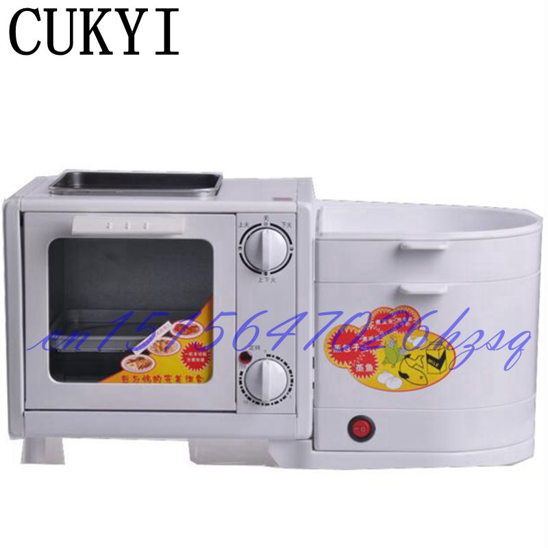CUKYI 5L Mini Four in one breakfast machine Electric Oven&Steamer&Flambe pan&Boiling Breakfast maker Multifunctional mechanical каталог flambe