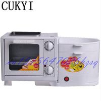 CUKYI 5L Mini Four in one breakfast machine Electric Oven&Steamer&Flambe pan&Boiling Breakfast maker Multifunctional mechanical