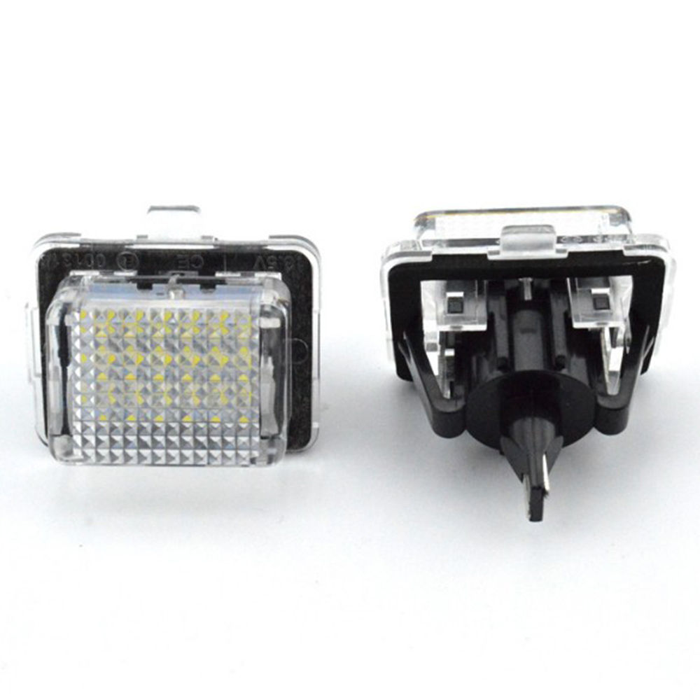 Pair Car LED License Plate Number Lights Lamp for Benz GLK X204 GLK350 08-15