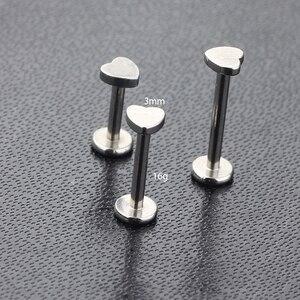 Тиансифbyjs Лабрет Монро шпильки 16 г 316L из нержавеющей стали CZ Лабрет Монро кольца для губ хрящевая спираль для пирсинга носа 6-10 мм