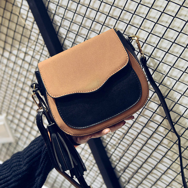 Free shipping, 2019 new trend women handbags, retro simple flap, fashion shoulder bag, tassel ornaments woman messenger bag. 3