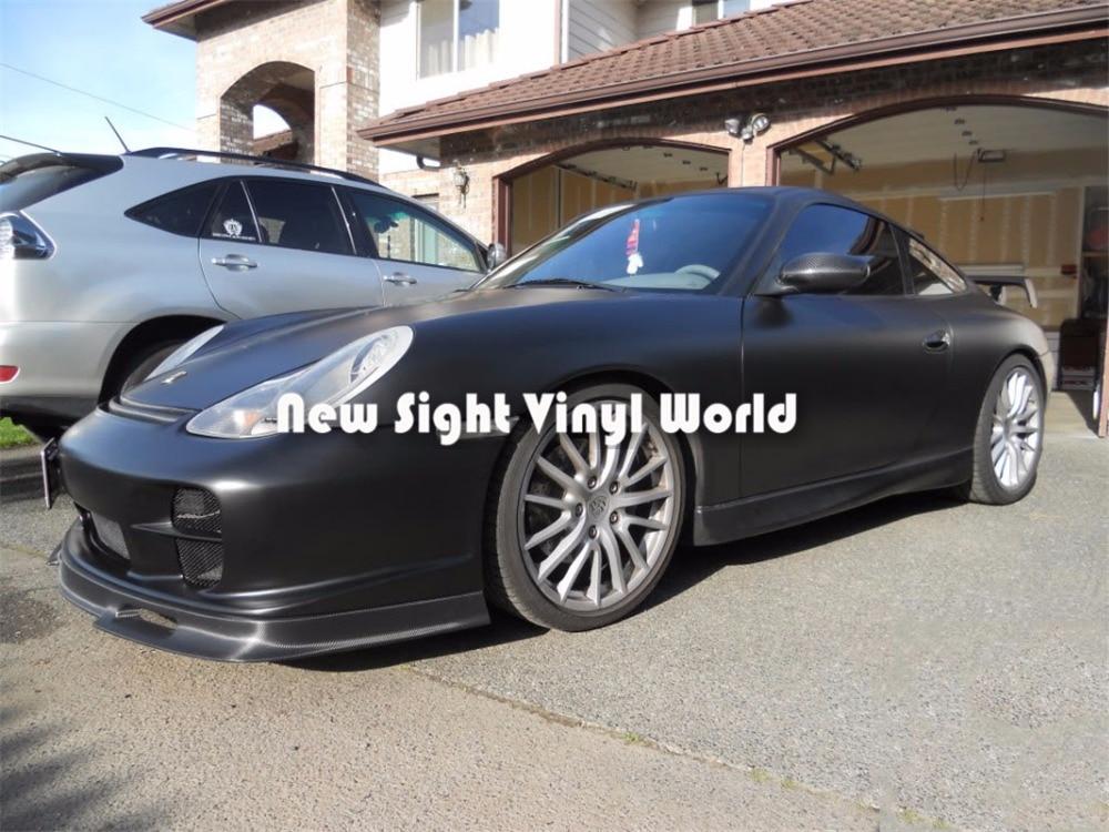 Haute qualité mat noir film en rouleau vinyle d'emballage Air bulle libre pour voiture emballage feuille taille: 1.52*30 M