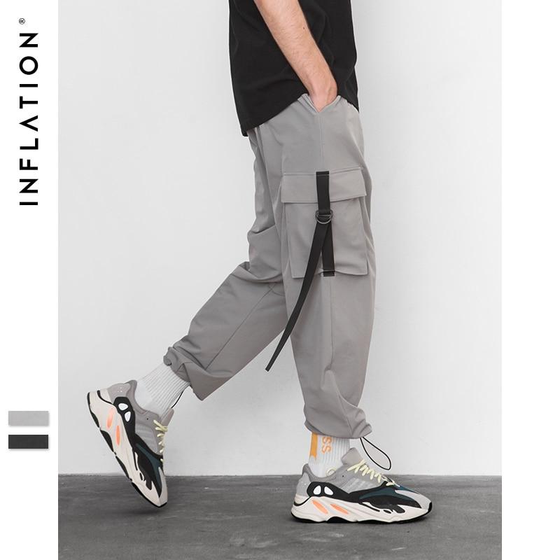 L'INFLAZIONE 2018 Elastico In Vita Patchwork Pista Pantaloni Mens Hip Hop Giacca A Vento Streetwear Pantaloni Harem Hip hop Swag Pantaloni 8855 w