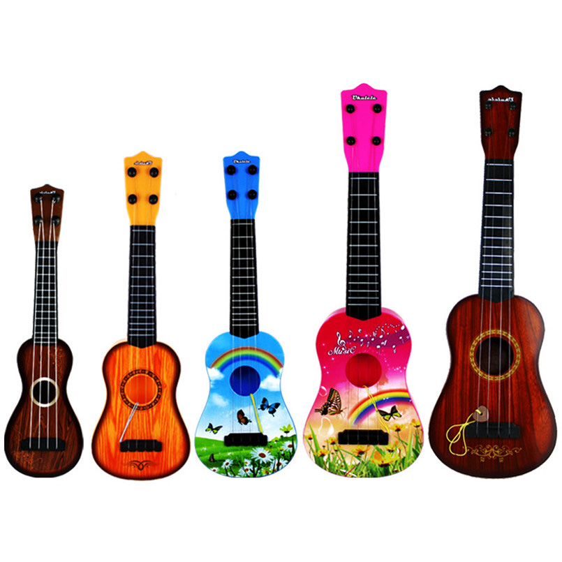 Ukulele Simulation Grain Guitar Model Children Musical Instruments Toy Music Development Model Toys For Kids Baby Birthday Gifts