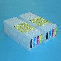 Bilgisayar ve Ofis'ten Mürekkep kartuşları'de 350 ml * 8 Renk Büyük Hacimli Dolum Mürekkep Kartuşu Epson Stylus Pro 7450 9450 Yazıcı Için Mürekkep Kartuşu + çip resetter