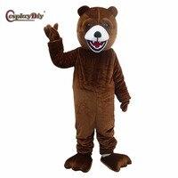 Косплэй DIY бурый медведь Маскоты костюм мультфильм животных Маскоты Хэллоуин Карнавал День рождения унисекс Косплэй костюм
