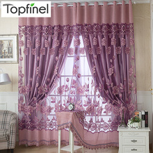 Top Finel Hot Tulle in Translucidus Window Curtain Jacquard Embroidered Voile Sheer Curtains for Living Room the Bedroom Panel