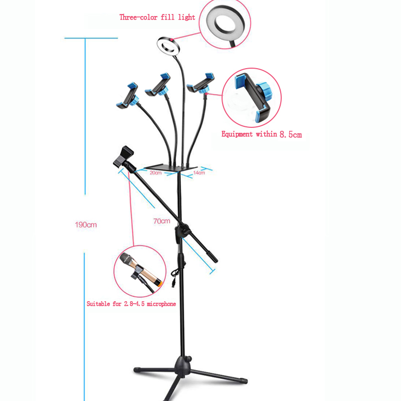 Ring Light and Floor Stand Mic Holder 3
