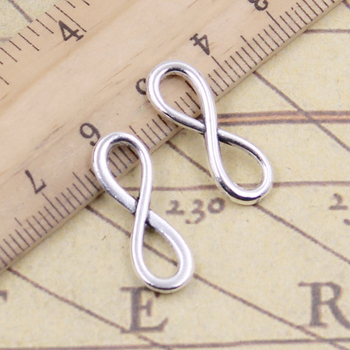 30pcs Charms Infinity Symbol Connectors 23x8mm Tibetan Bronze Silver Color Pendants Antique Jewelry Making DIY Handmade Craft 50g 100g letters mixed charms pendants vintage antique bronze silver bracelets necklaces craft metal alloy diy jewelry making