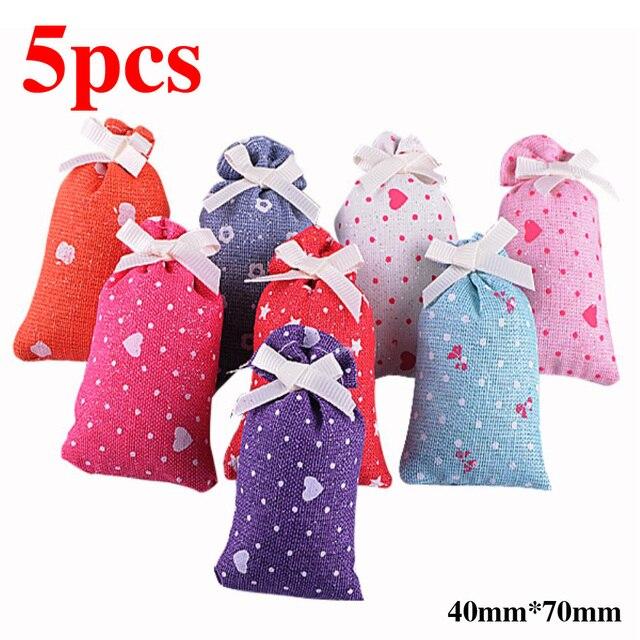5pcs/lot Natural Scented Fragrance Bag Wardrobe Drawer sachets dehumidified air purification Car Perfume gift box Cheap Sale