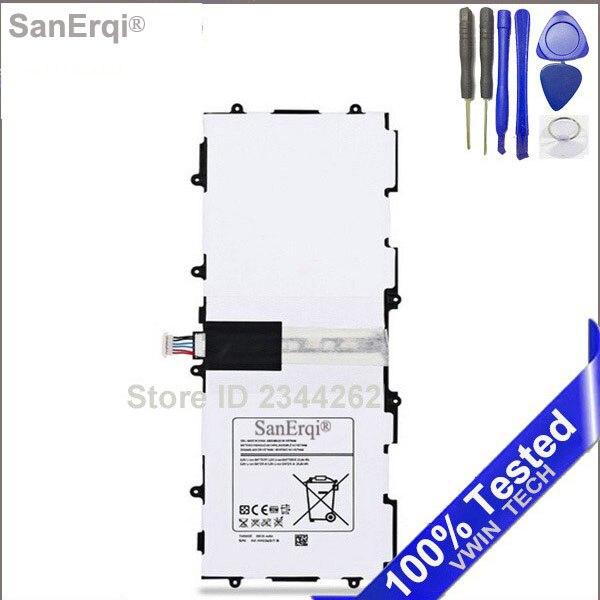 T4500E Batterie Für Samsung P5200 für Galaxy Tab3 P5210 10,1 T4500C P5220 GT-P5200 P5213 GT-P5210 Neue 6800 mAh Kostenlose Tools SanErqi
