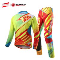 SCOYCO Motocross Pants Motocross Shirt Motorcycle Pants Set Racing Shirt Suit Riding Off road Pants Trousers Sports Clothing