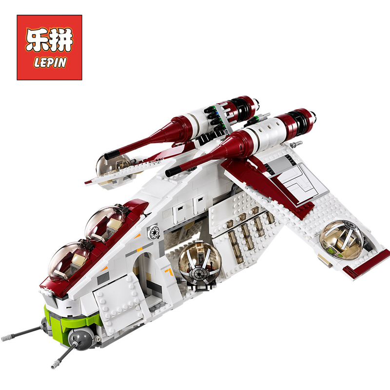 Lepin Starwars 05041 Star 1175Pcs Wars the Republic Gunship Set starfighter Educational Building Blocks Bricks Game Toys 75021 lepin legoing 75021 1224pcs star series wars the republic gunship building blocks brick educational toys for children 05041