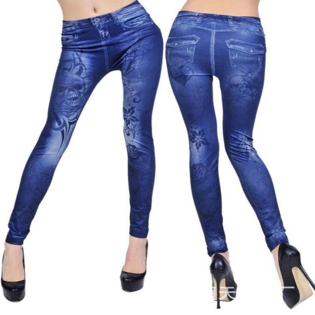 Women Long Pencil Denim Pants Fashion High Waist Women Slim Skinny Leggings Jeans for Women Casual Slim Stretch Denim Jeans