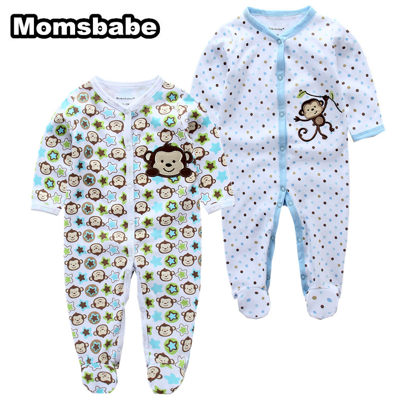 2PCS/LOT Baby Girls Boys Clothing Baby Clothes Pajamas Gift Cartoon 100% Cotton Long Sleeve Infant de bebe costumes baby Rompers newborn baby clothing spring long sleeve cotton baby rompers cartoon girls clothes roupas de bebe infantil boys costumes