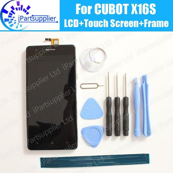 CUBOT X16S ЖК дисплей + сенсорный экран дигитайзер + рамка с материнской платой в сборе 100% Оригинальный ЖК + сенсорный дигитайзер для CUBOT X16S