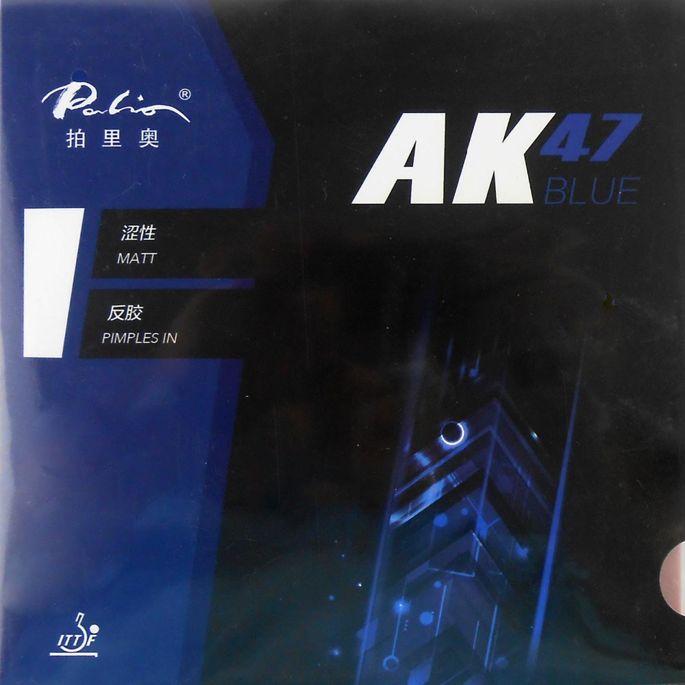 Palio AK 47 AK47 AK-47 BLU Opaco Pips in Gomma Con La Spugna PingPong di Gomma per Racchetta Da Ping Pong 2.2mm h38-40