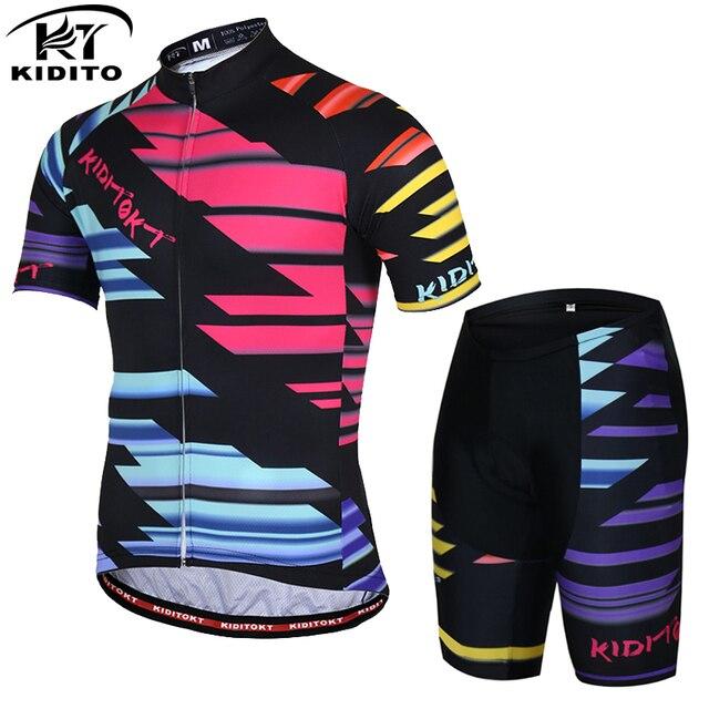 1a23b3013 KIDITOKT tenue cycliste homme Anti-UV Pro Summer Cycling Jersey Set Men MTB  Bicycle dress cycling kit bicicleta bicycle clothing
