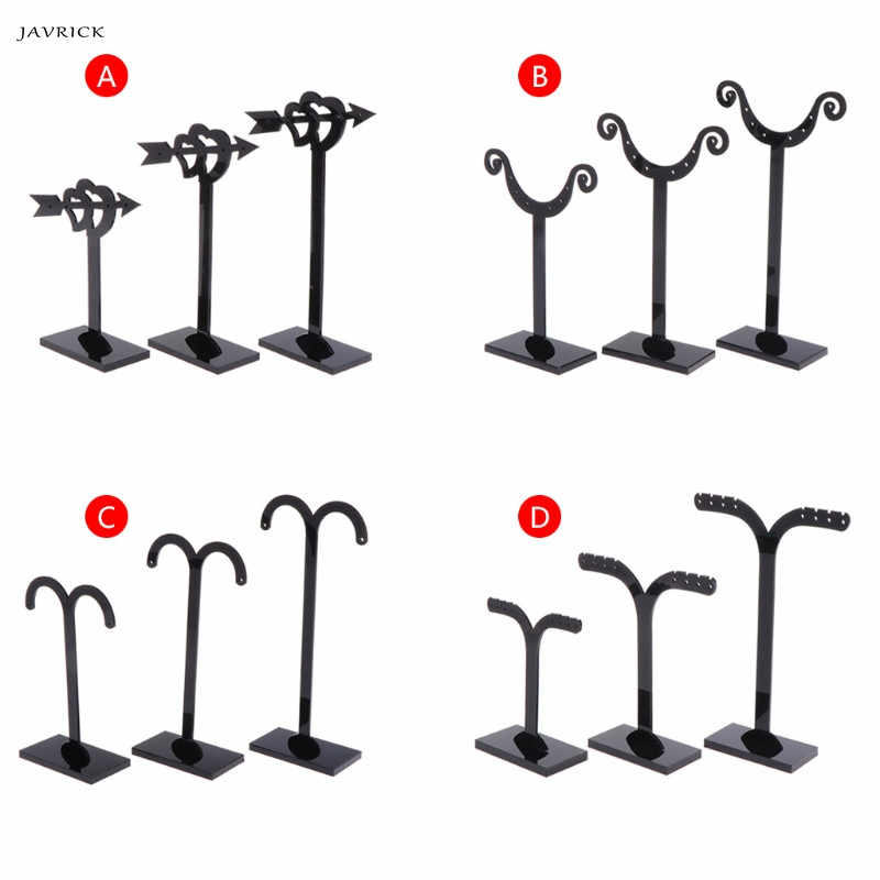 JAVRICK 1 Set 3 Size Acrylic Earrings Cup/Arrow/Branch/Light Shaped Display Shelf Stand Holder Jewelry Organizer Rack