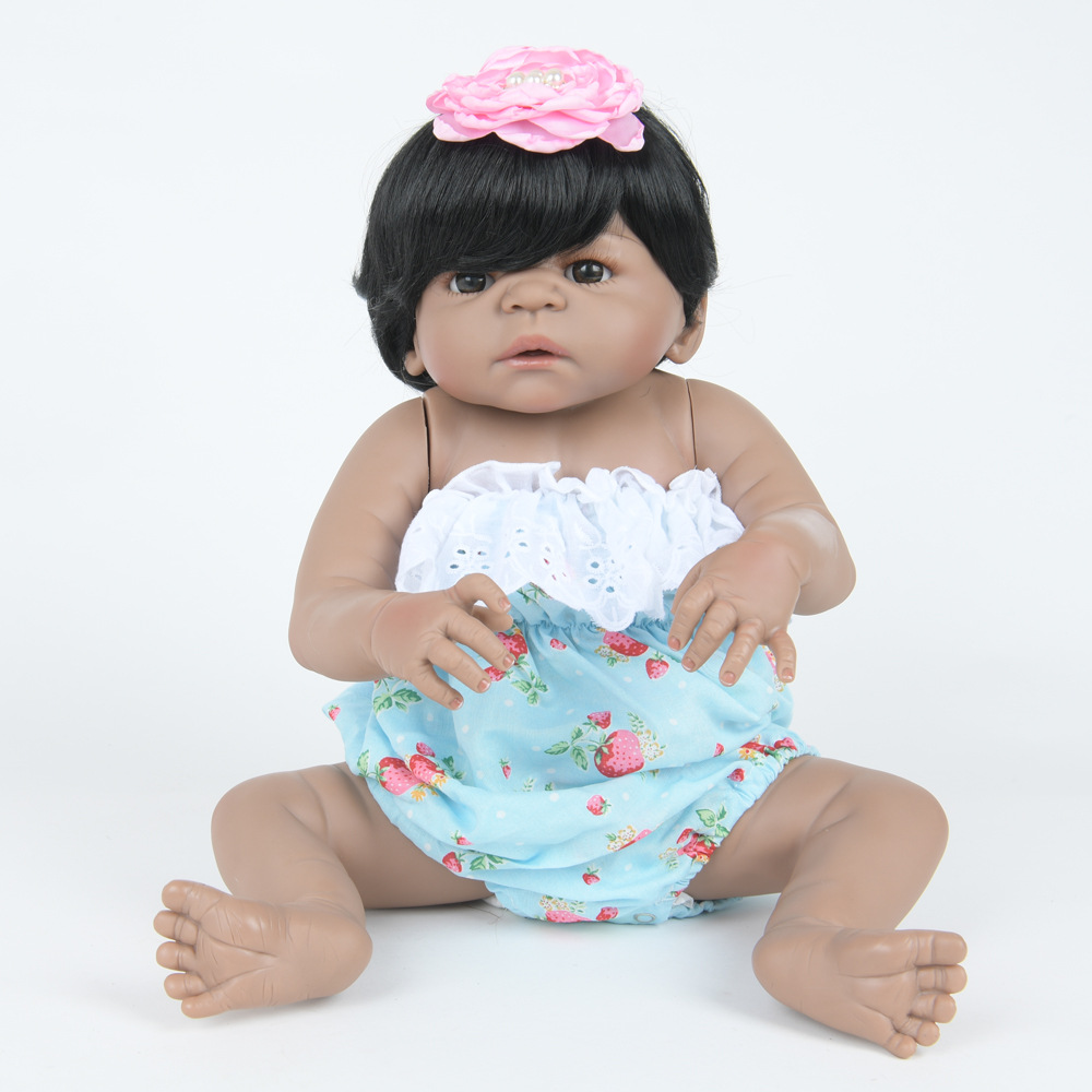 22 Inch Soft Full Silicone Reborn Baby Doll Lifelike Newborn Princess Girl Dolls for Kids Toy Birthday Xmas New Year Gift 22 inch 55 cm silicone baby reborn dolls lifelike doll newborn toy girl gift for children birthday xmas