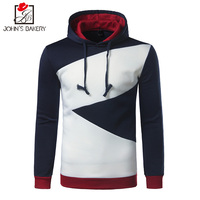 2017 John S Bakery Brand New Hoodies Brand Men Color Splicing Sweatshirt Male Hoody Hip Hop