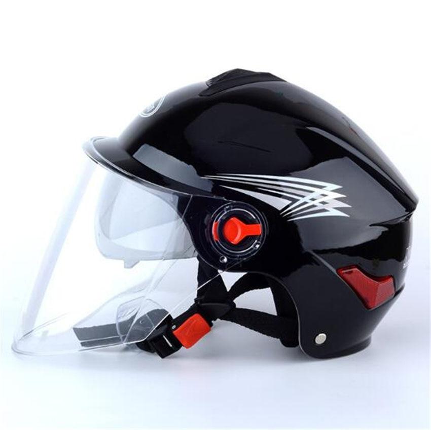 2018 black new color half face vintage motorbike helmet. Black Bedroom Furniture Sets. Home Design Ideas