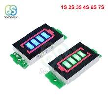 Модуль индикатора емкости литий ионной батареи 1S 2S 3S 6S 7S серии Li po, дисплей, тестер мощности электромобиля