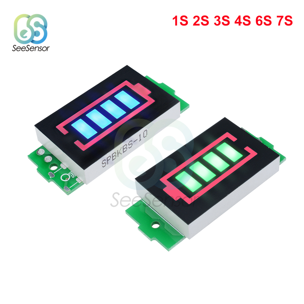 1S <font><b>2S</b></font> 3S 4S 6S 7S Series Li-po Li-ion Lithium <font><b>Battery</b></font> Capacity <font><b>Indicator</b></font> Module Display Electric Vehicle <font><b>Battery</b></font> Power Tester image