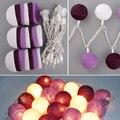 Aladin Magnífico Romántico 3 M 20 Púrpura Creativo Hecho A Mano de Algodón BOLA Cadena de Luz Para Navidad Fiesta Banquet Adorno