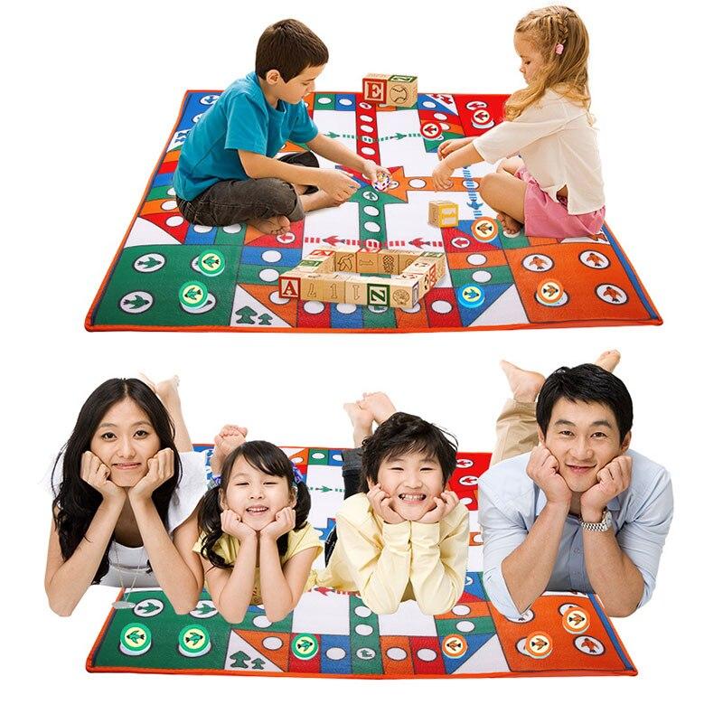 Children Aeroplane Chess Mat Set Flying Airplane Game Chess Carpet Rug