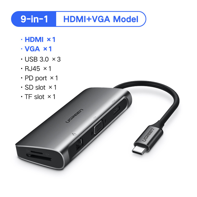 9-in-1 HDMI and VGA