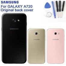 SAMSUNG Original Back Battery Door Rear Glass Case For Samsung Galaxy A7 2017 Version A720 SM-A720 Phone Battery Backshell Cover стоимость