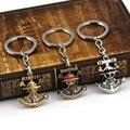 2016 One Piece Luffy Skeleton Anchor Key Chain Anime Jewelry Alloy keychain